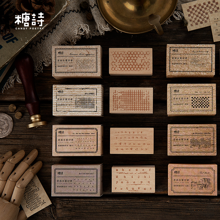 Vintage Functional Series Month Planner Diary Rubber Wood Stamp Scrapbooking Background Stamp for Memo Task Check Record Keep(China)