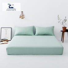 Liv-Esthete Luxury Green 100% Mulberry Silk Fitted Sheet Silky Mattress Cover Queen King Bed Sheets Pillowcase For Women Men