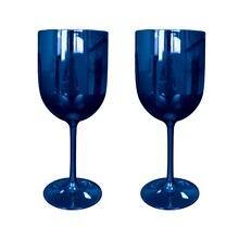Goblet Plastic Glasses Champagne Flutes Cocktail-Glass Wine-Cup Party 2pcs