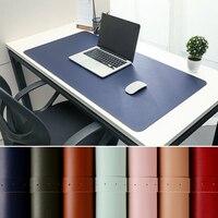 Alfombrilla para el ratón para juegos, superficie de descanso, protector, estera de escritura, fácil de limpiar, de cuero PU, portátil, para oficina y hogar