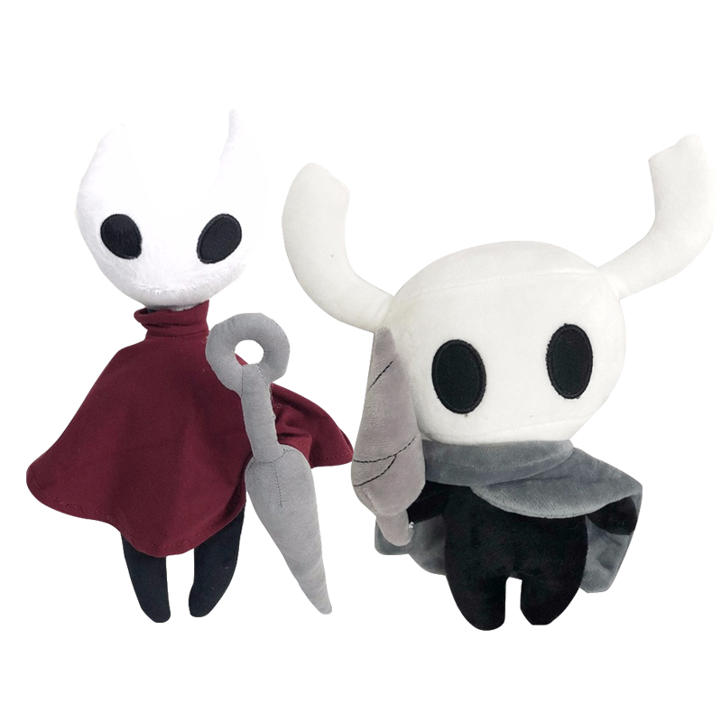 2pcs 30cm New Arrive Cute Scary Hollow Knight Anime Plush Toys Figure Ghost Stuffed Animals Doll Kid Toys Children Birthday Gift image