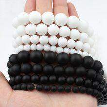 Contas de pedra natural, contas redondas e suaves para fazer jóias, bracelete diy de 15