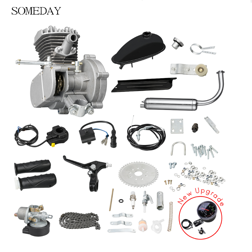 80cc 2 Bicycle Motorcycle Stroke Gasoline Engine Kit For DIY Electric Bicycle Mountain Bike Complete Set Bike Gas Engine Motor
