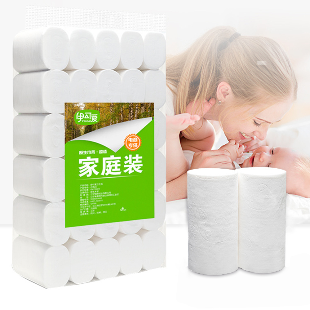10pcs Home Tissue Roll Paper Tissue Towel Roll Hot Sale 6 Roll Packs Kitchen Toilet Paper 4 Layer Thickened Household Paper