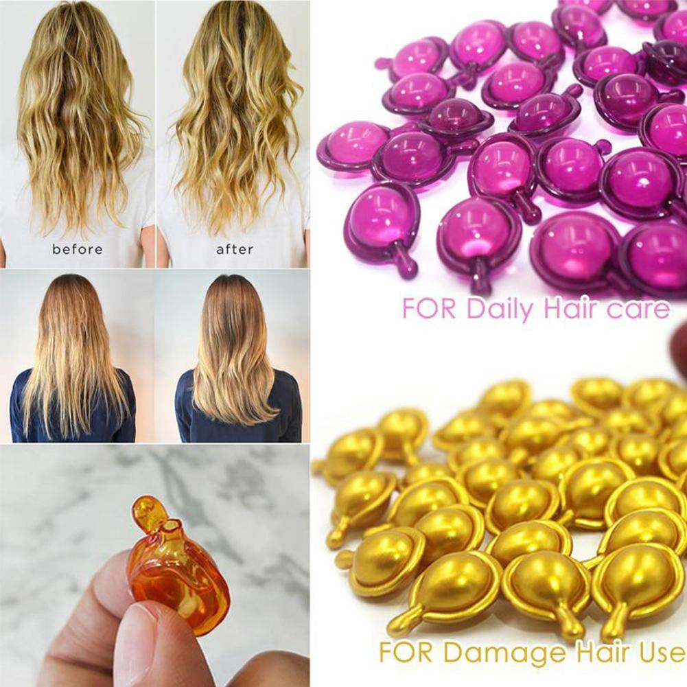 5pcs Repair Damaged Hair Serum Moroccan Oil Vitamin Capsule Pro Keratin Complex Oil Smooth Silky Hair Mask Anti Hair Loss Care
