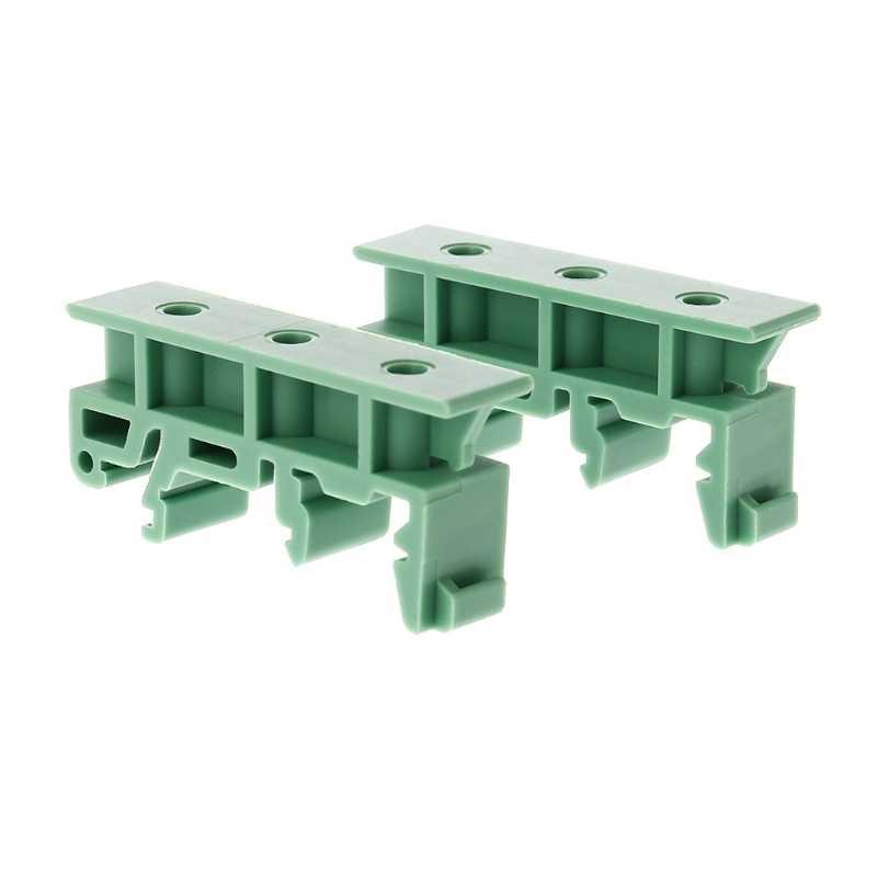 PCB 35 Mm DIN Rel Pemasangan Adaptor Papan Sirkuit Bracket Pemegang Carrier Klip