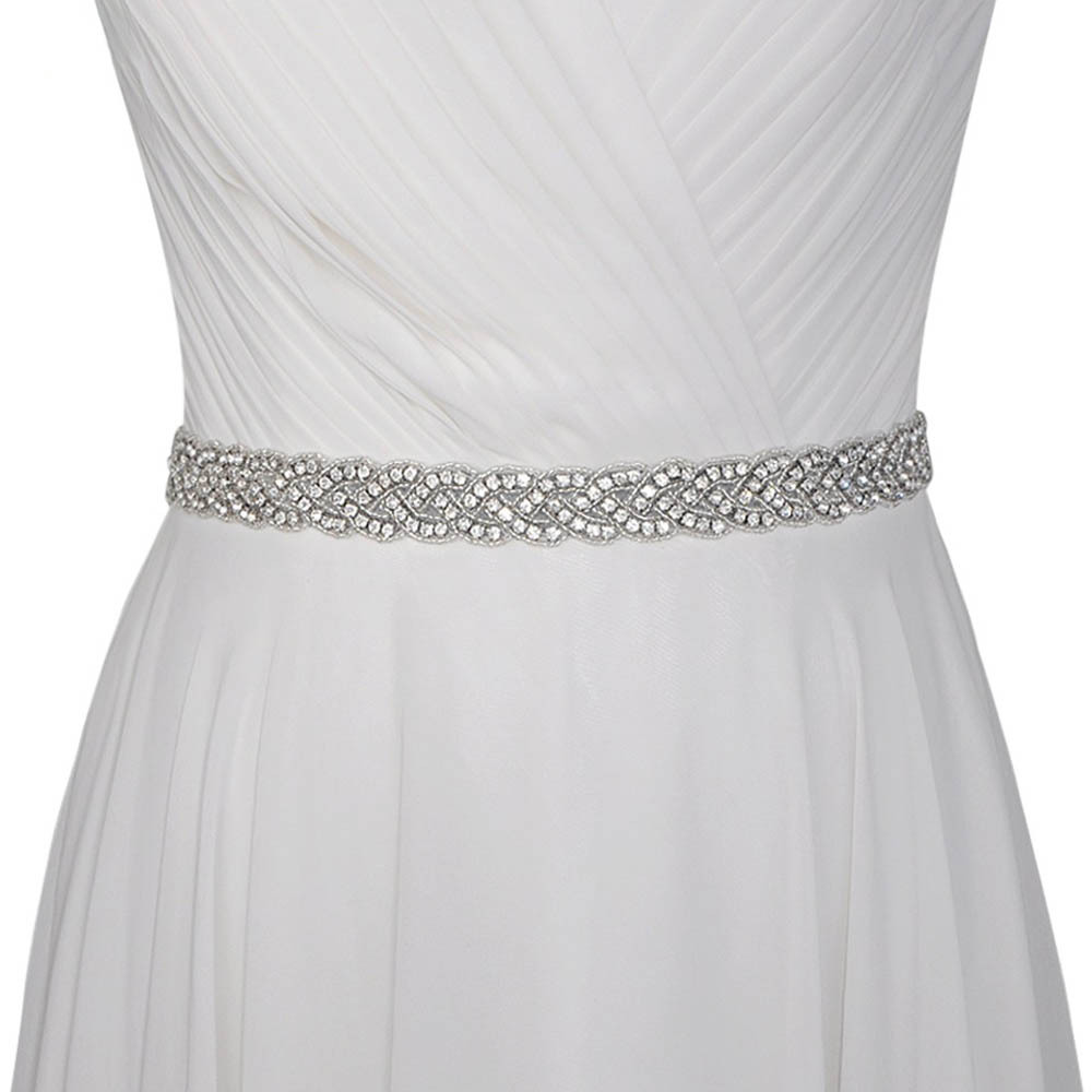 2019 New Bridal  Belt Rhinestone Wedding Dresses Belts Marriage Gowns Accessories Beading Decoration