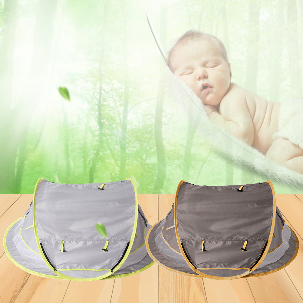 Baby Outdoor Camping Portable Tent Summer UV-protecting Sunshelter Anti-mosquito Beach Tent Sleeping Play House