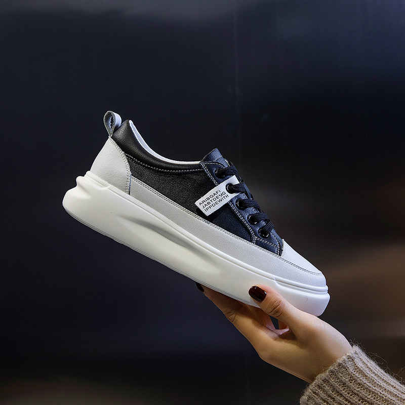 Big Size Women Sneakers Autumn Leather Light White Sneaker Female Platform Vulcanized Shoes Spring Casual Breathable Sports Shoe 10