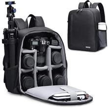 Caden câmera mochila multi funcional digital dslr câmera saco à prova dslr água ao ar livre câmera foto caso para nikon canon sony