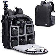 Plecak na aparat fotograficzny CADeN wielofunkcyjna torba na aparat cyfrowy DSLR wodoodporna torba na aparat fotograficzny na zewnątrz do aparatu Nikon Canon Sony