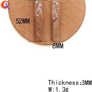 Image 3 - 코디 얼 디자인 50Pcs 8*52MM DIY 귀걸이 만들기/보석 액세서리/스틱 모양/천연 나무 & 수 지/손으로 만든/귀걸이 결과