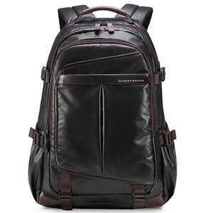 Image 3 - Novo homem mochila para 15.6 polegadas portátil, grande capacidade estudante mochila estilo casual saco repelente de água unisex bagagem & sacos