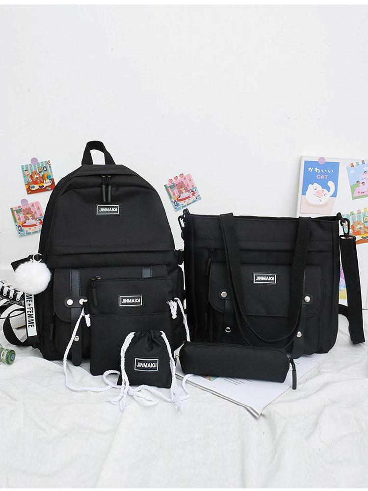Schoolbags Backpacks Mochila Canvas Laptop Travel Teenage Girls Women for Keychain Escolar