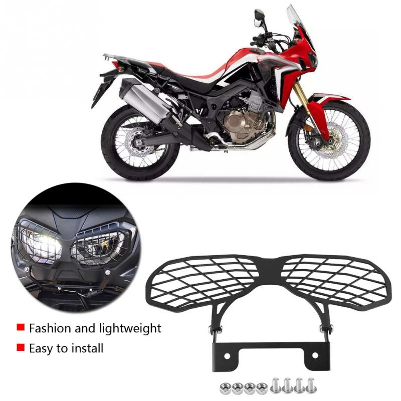 Motorcycle Front Headlight Cover Guard Protector For Honda CRF1000L Africa Twin 2016-2017t Stainless Steel Moto Headlight Bracke