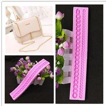 Fabricantes vendendo bolo decoração ferramenta sacos de corrente longa cinta silicone molde g168 cor aleatória