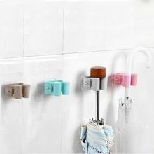 Multi-functional Practical Kitchen Wall Mounted Mop Holder Home Bathroom Sweeper Storage Hanger Rack Hooks