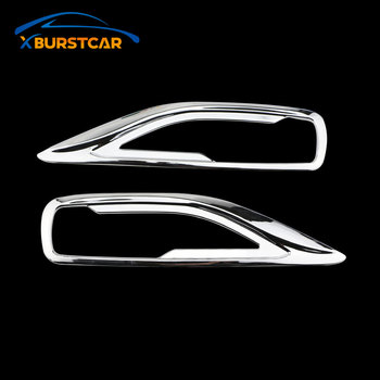 Xburstcar Car Rear Fog Light Cover for Toyota FORTUNER SW4 2016 2017 2018 2019 ABS Chrome Car Fog Lamps Cover Trim Parts image