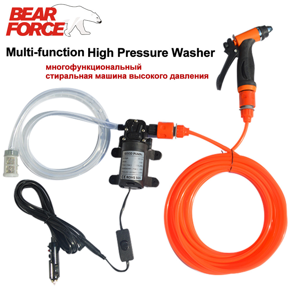 High Pressure Self-priming Electric Car Washer Gun Water Pump 12V Car Washing Portable Machine Cigarette Lighter