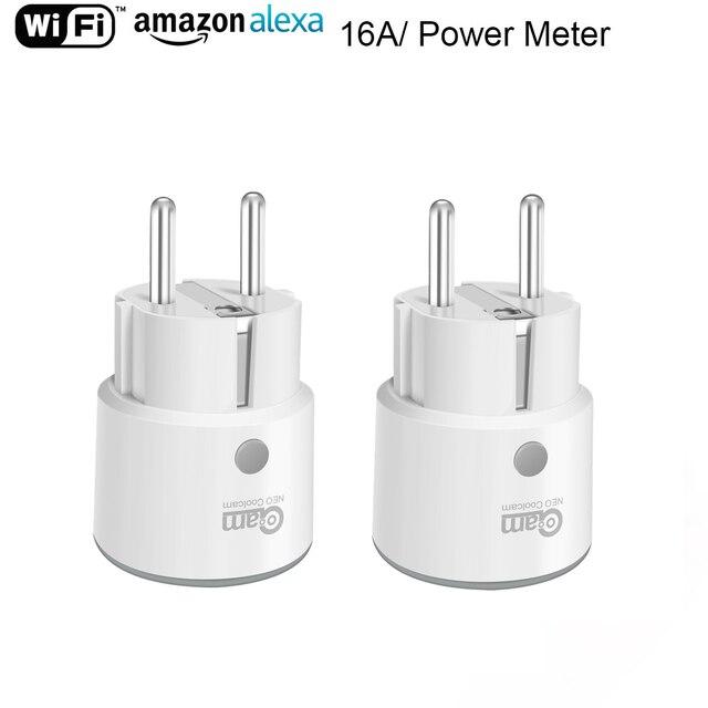 NEO Coolcam Smart Plug WiFi Socket 3680W 16A Power Energy Monitoring Timer Schakelaar EU Outlet Voice Control door Alexa google IFTTT