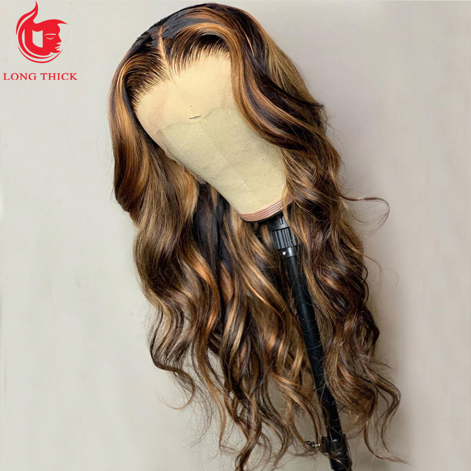 Highlight Wig  Ombre Lace Front Wig  Wigs  30 Inch Honey Blonde Body Wave Lace Front Wig 5