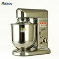AST-B10S Электрический миксер для Кухня планетарный Еда смеситель с крышкой крюк для теста на плоской подошве белое проволочный венчик 5/7/10 лит...