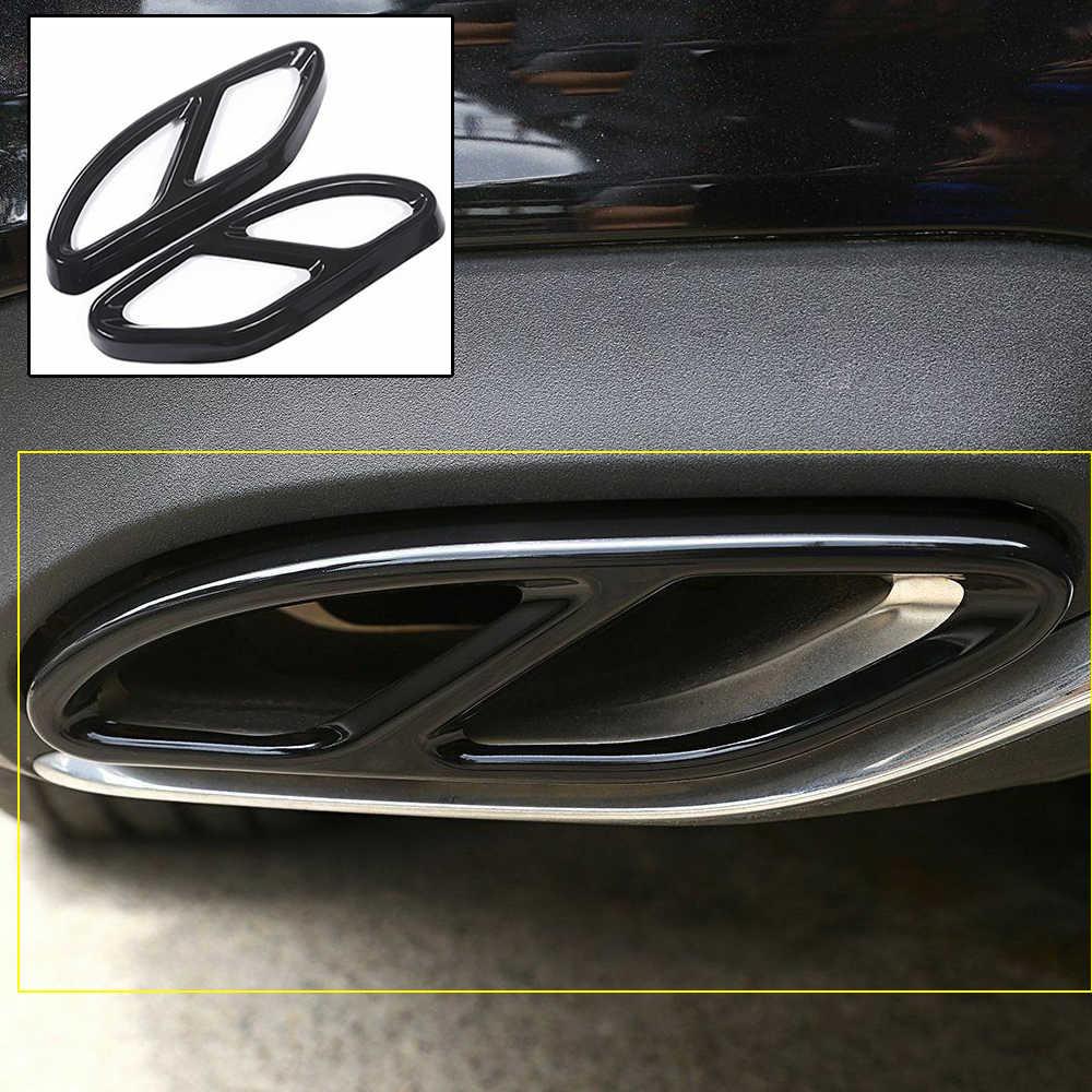 Автомобильный глушитель Накладка для Mercedes Benz GLC C E Class W213 W205 GLC C A Class A180 A200 W176 2015 2016 2017 AMG трубы