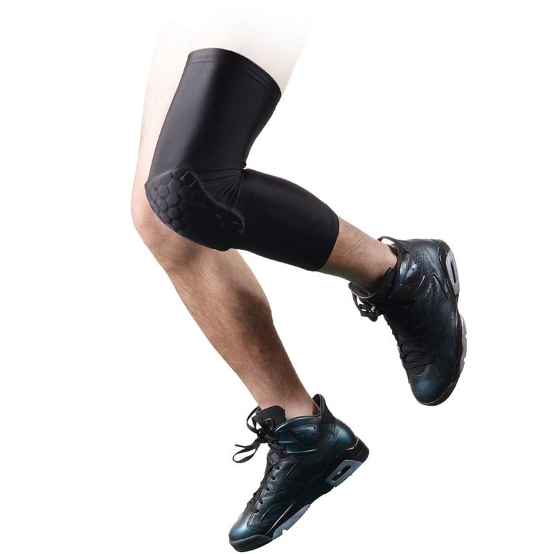 New Upgrated Honeycomb Pad Crashproof Basketball Leg Long Sleeve Protector Gear Black M