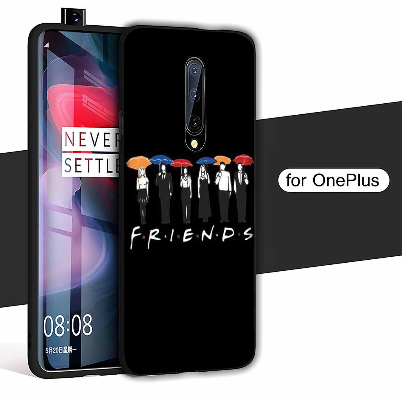 Arkadaşlar TV yumuşak TPU siyah silikon telefon kılıfı OnePlus 7T 7 Pro 6 6T 5 5T tek artı 7Pro kapak