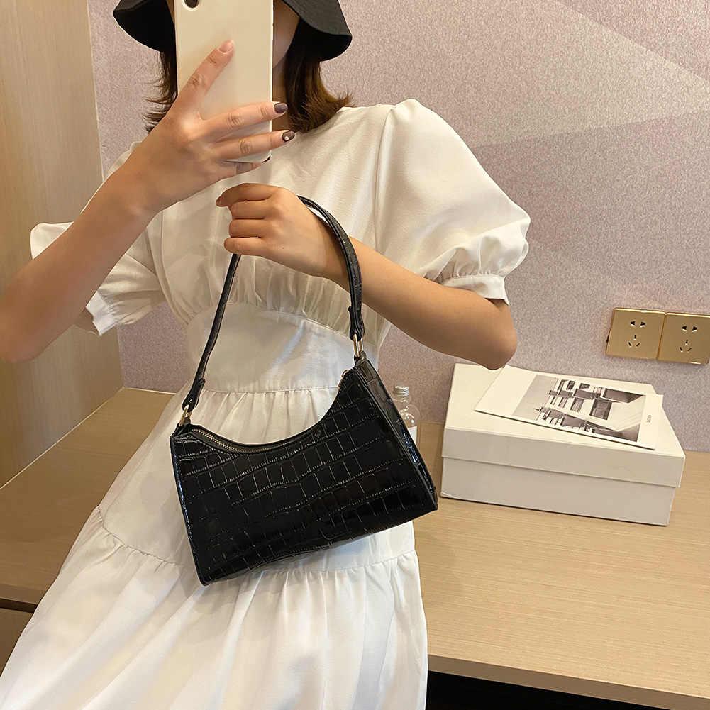 Mode Exquisite Einkaufstasche Retro Casual Frauen Totes Schulter Taschen Weibliche Leder Einfarbig Kette Handtasche
