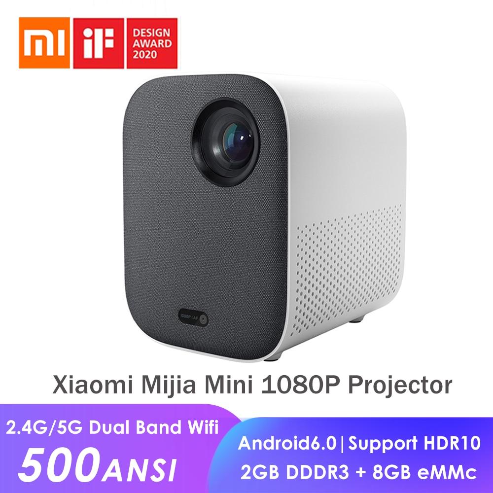Xiaomi Mijia Mini Portable Projector 1080p 500 ANSI Lumens Android 6.0 WIFI 2GB 2GB
