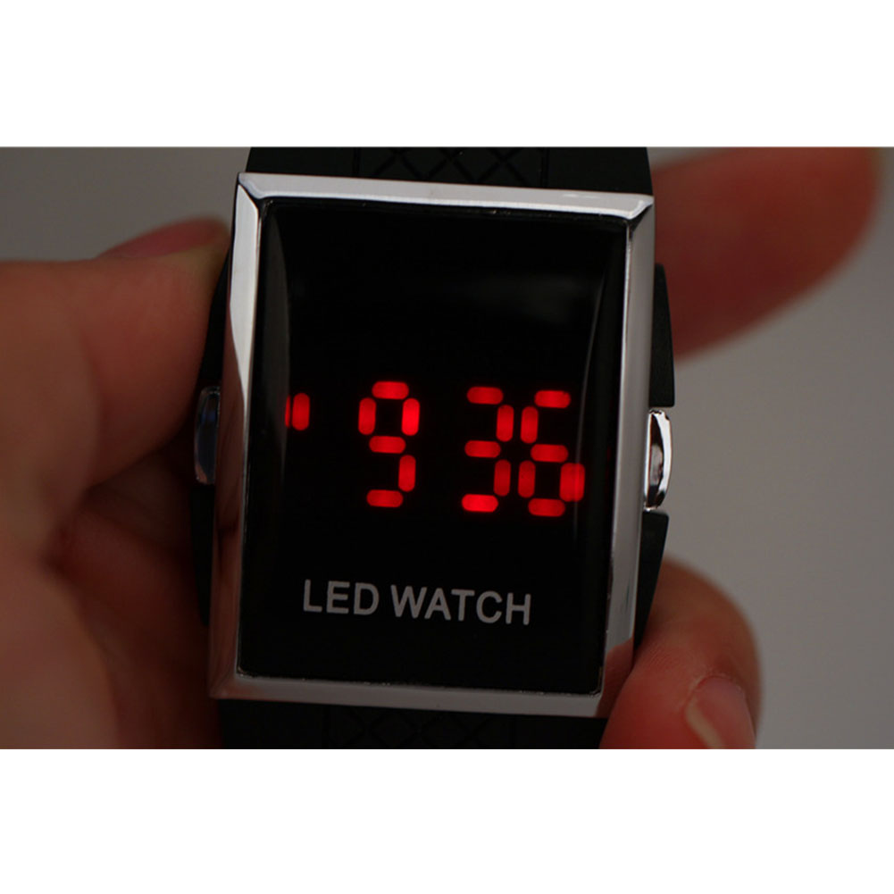 Men Digital Sports Waterproof Daily Quartz Fashion Display Silicone Band Gift Outdoor LED Wrist Watch