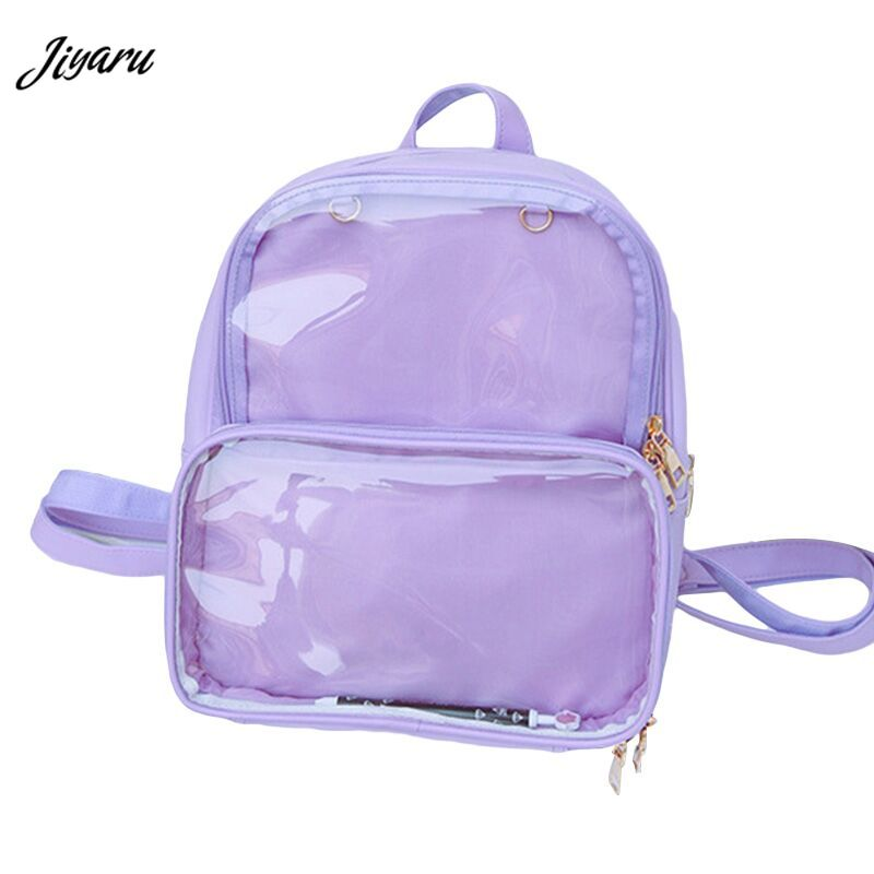 Summer Fashion Women Backpack Transparent Student Bags High Quality Clear Versatile Backpacks Women Leather Bags Lady Travel Bag