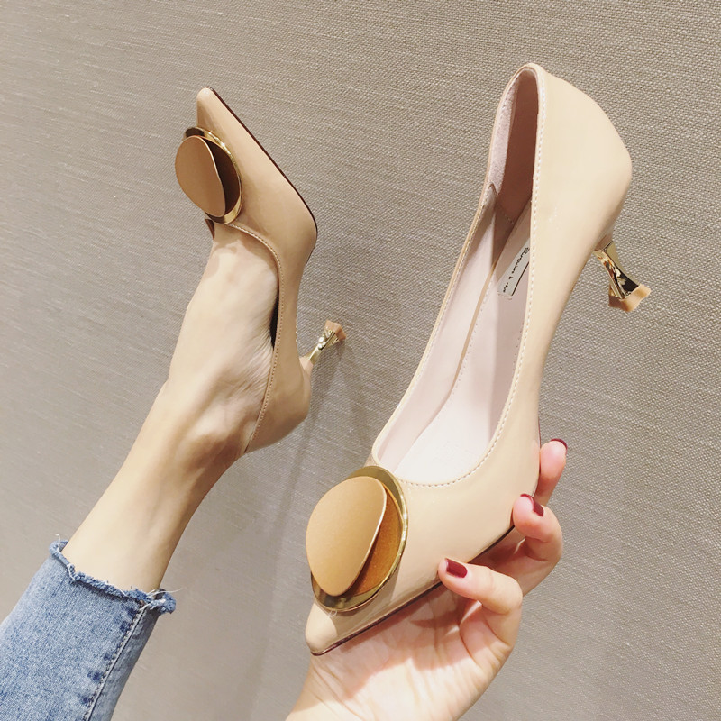 2020 Ladies Pumps Dress Women <font><b>Shoes</b></font> Luxury Heels Pointed Top Party <font><b>Shoes</b></font> Office <font><b>Sexy</b></font> Thin Heels <font><b>Shoes</b></font> <font><b>Fetish</b></font> Mujer High Heels image