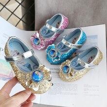Весенняя детская Свадебная обувь для девочек; детские туфли принцессы с петельками; фиолетовые кожаные туфли для девочек; Повседневная обувь; кроссовки на плоской подошве