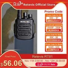 Güçlü DMR dijital telsiz Retevis RT81 su geçirmez IP67 UHF VOX uzun menzilli iki yönlü telsiz çiftlik depo fabrika avı