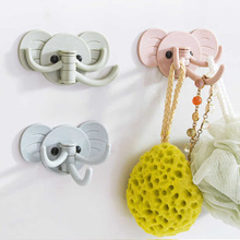 цена на Creative cute elephant glue hook kitchen bathroom multi-purpose strong viscose seamless wall free nail hook