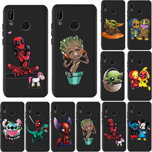 Stitch Deadpool Grote Baby Yoda Thanos Telefoon Case Voor Huawei P40 Pro Mate 30 Pro Case 20 Lite 10 P smart Nova 5i Honor 20 Funda(China)