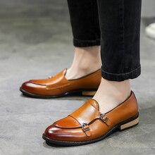Zapatos de cuero para hombre, calzado Formal de alta calidad, transpirable, de ocio, de negocios, mocasines, Oxford, 2020