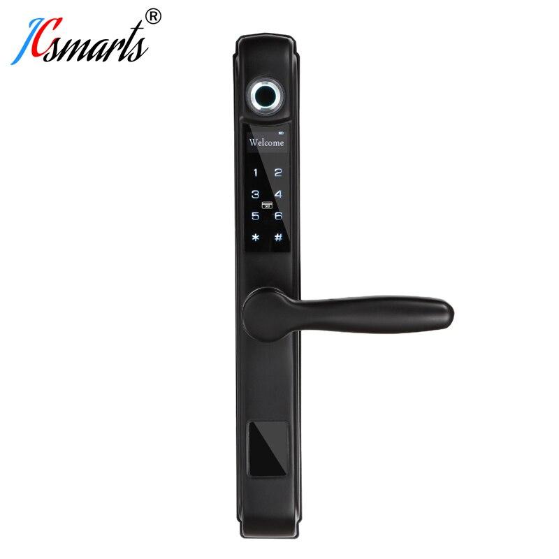 Serrure de porte numérique étanche cerradura puerta serrure biométrique d'empreinte digitale électronique avec lecteur de carte