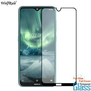 Перейти на Алиэкспресс и купить Защитная пленка для экрана для Nokia 2,3 5,3 7,2 закаленное стекло 9H HD полное клеевое покрытие Защитная пленка для телефона для Nokia 2,3 5,3 7,2 стекло
