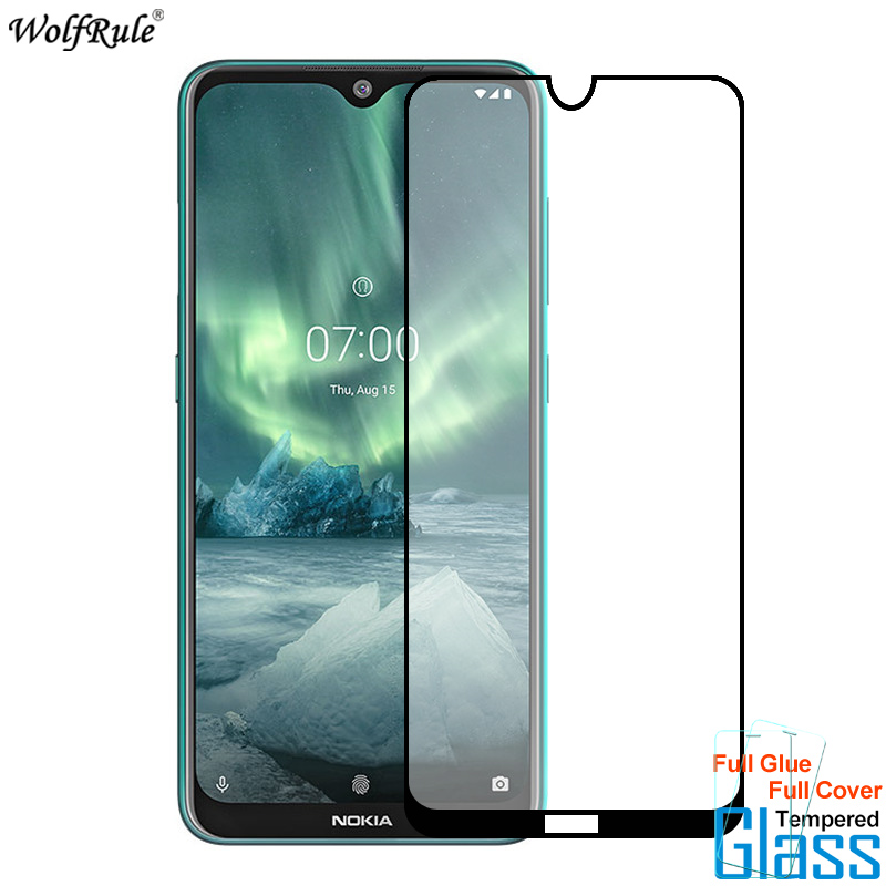 Glass For Nokia 2.3 7.2 Screen Protector Full Glue Cover Tempered Glass For Nokia 2.3 7.2 Glass 9H Protective Phone Film