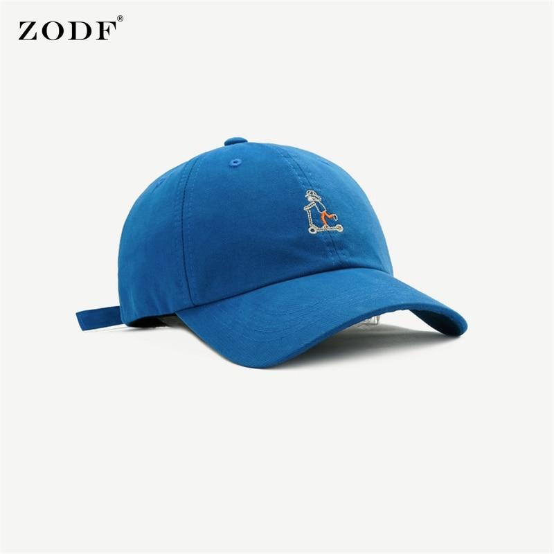 ZODF Chic 2021 Men Cotton Outdoor Caps Skateboard Boy Embroidery Snapback Unisex Baseball Cap Sport Hats HY0056