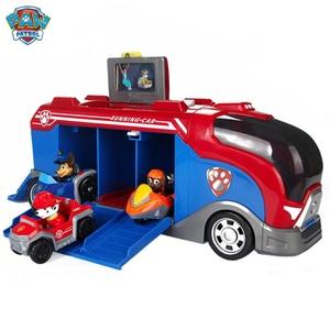 Image 3 - Paw הצלת סיור אוטובוס סדרת Patrulla Canina צעצוע סט סיירת כלב מרדף מרשל רכב פעולה איור ילדים יום הולדת מתנה