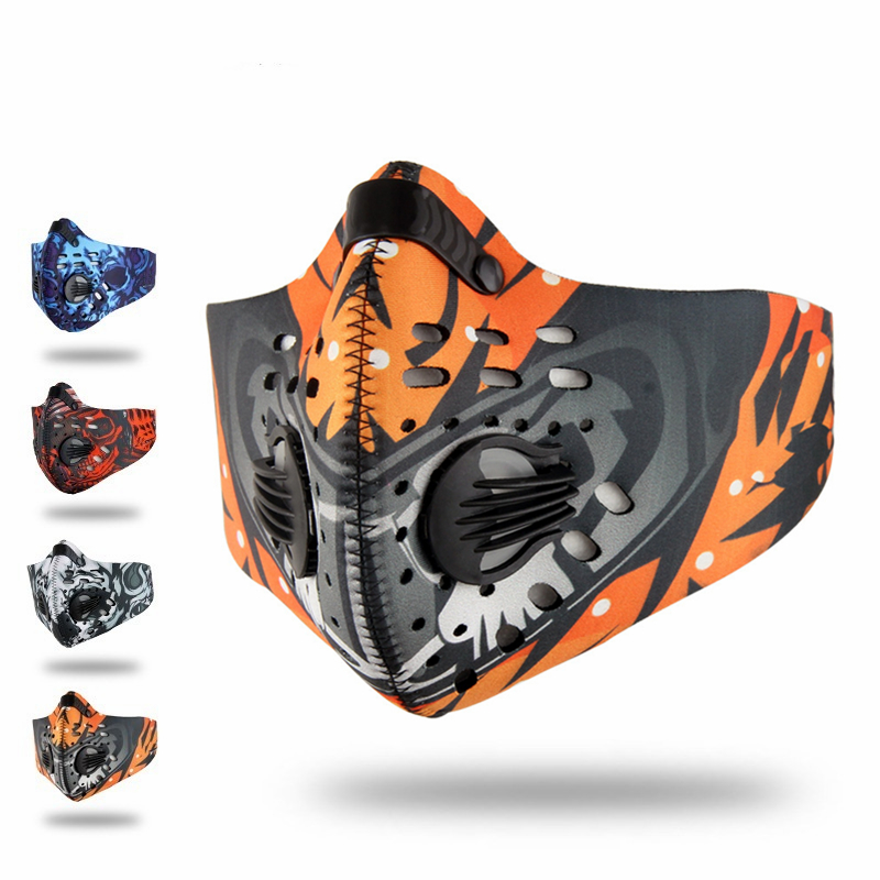 2020 Anti Dust Training Mask Cycling Masks With Filter Half Face Carbon Mountain Bicycle Sport Road Cycling Masks Face Cover