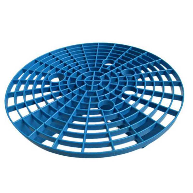 23.5cm Car Wash Grid Filter Insert Washboard Water Bucket Filter Anti Scratch Tool - Blue 1 Pack