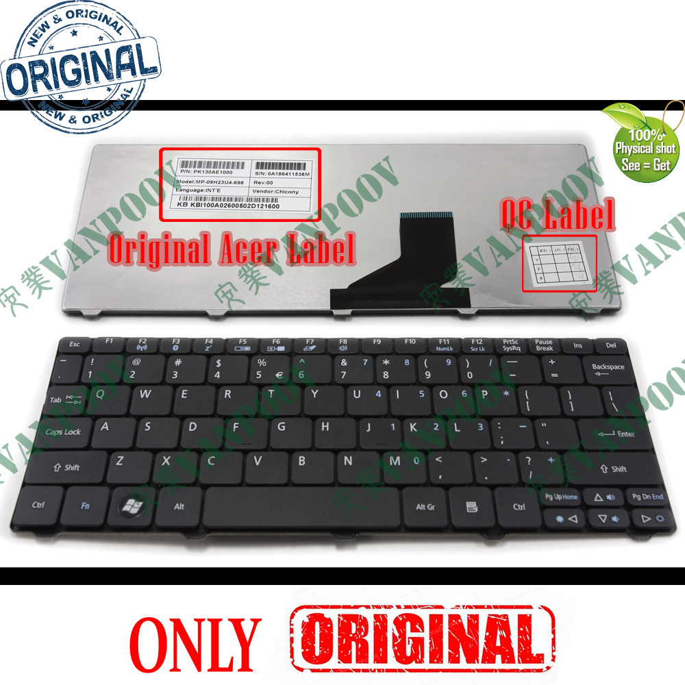 Original New for Acer Aspire One D270 ZE6 D260 PAV70 Keyboard US