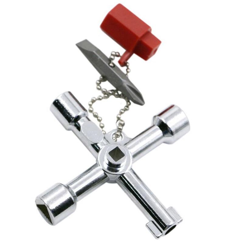 Multi-unction-sleutels Kruissleutel met 1 ketting 10 profielen - Gereedschapssets - Foto 4