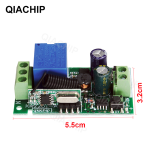 Image 3 - QIACHIP 433 MHz AC 85 V 110 V 220 V 1 CH Sans Fil Télécommande Récepteur Relais Commutateur Module LED lumière Lampe Contrôleur 433.92 MHz