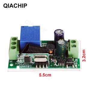 Image 3 - Qiachip 433 433 mhzのac 85v 110v 220v 1 chワイヤレスリモコン受信リレースイッチモジュールled光ランプ制御部 433.92 mhz